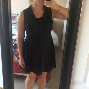 One piece black business dress